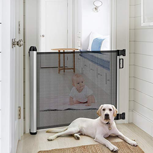 Baby Safety Gate, Minkind Extension Extra Wide Child Gate Indoor Outdoor Retractable...