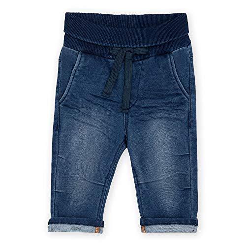 Sigikid Baby-Jungen Sweat Denim Klecks, Größe 062-098 Jeans, Dunkelblau, 86