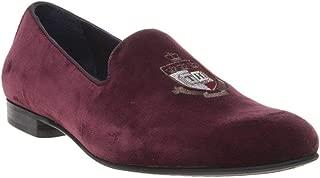 Tommy Hilfiger Velvet Loafer Mens Shoes Maroon
