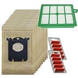 Spares2go solide Sacs à poussière & EFH12kit de filtre pour aspirateur Electrolux Oxygen (lot de 10sacs + 1Filtre +...