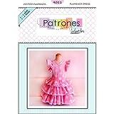 Patrón de ropa vestido niña flamenca, con vídeo para ayudarte a realizarlo. Talla 1 a 8 años. Patrón multitalla en papel.