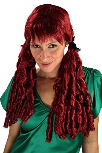 WIG ME UP Perruque brune, avec des boucles en spirale, style baroque, idéal pour Carnaval ou Cosplay.