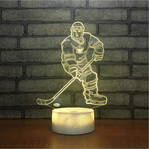 Color Control Table Lamps Gift Acrylic Lamp Hockey Desk Lamp touch switch 7-color sleep light