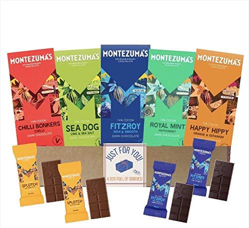 Montezuma's Chocolate Bar Gift Hamper Box   Organic Dark Chocolate Cocoa x9