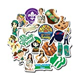 20 PCS Stickers Pack Girl Aesthetic Scout Vinyl Colorful Waterproof for Water Bottle Laptop Scrapbooking Luggage Guitar Skateboard