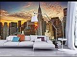 Papel Tapiz 3D Fotomural Ciudad De Nueva York Amanecer...