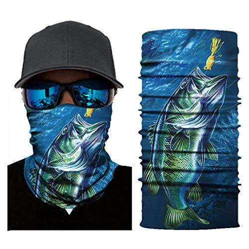 Stoota Sea Animal Print Face Mask, Rave Bandana, Neck Gaiter, Scarf, Summer Balaclava for Dust Wind UV Protection -  -  10W x 20L