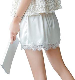 [SEYIXU]レディース 裾レース ペチパンツ ペチコート ペチパン 透け防止 下着 3分丈ショーツ ウエストゴム ストレッチ 3色