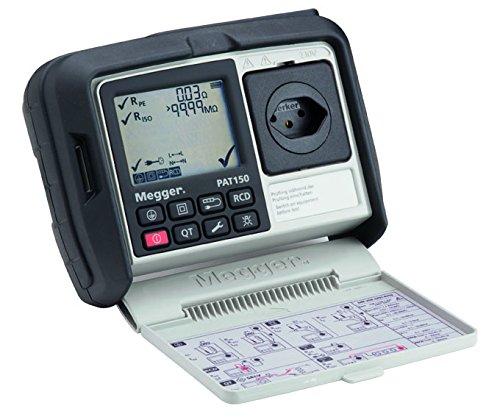 Megger 1003-075 PAT150-CH Gerätetester, Schutzleiterwiderstand mit 200 mA, Isolationsprüfung mit 250V und 500V, Ersatz-Ableitstrom, Schutzleiterstrom