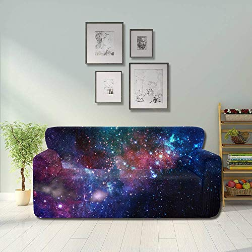 JEOLVP Small Part Infinite Star Field Space Universal Stretch Couch Cover Furniture Sofa Covers Fitted Furniture Protector 2&3 Seat Sofas