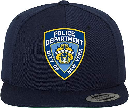 MERCHCODE Gorra con Emblema de NYPD, Color Azul Marino, Talla única