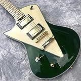 Wuyuana Guitare électrique pour gaucher - Guitare acoustique - Cordes en acier - Guitare électrique classique - Couleur : vert - Taille : 99,1 cm