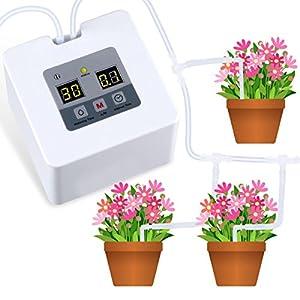 Landrip Kit de riego automático por Goteo Micro, Sistema de riego automático con Temporizador electrónico de Agua de 30 días, Carga USB de 5 V para 10 Plantas en macetas de Interior
