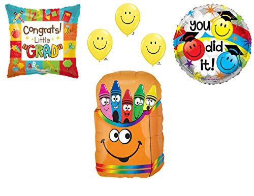 Preschool Kindergarten Graduation Crayons Party Balloons Decoration Supplies Graduate