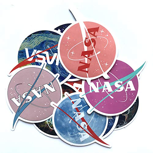 Ratgoo Random NASA Logo Graffiti Sticker Pack,12 Pcs Non-repetitive Appliques,Difficult to Fade,Long Lifetime,Ideal Decals For Your Water Bottle,iPhone,Laptop,Bike,Guitar and More.Show Your own Style!