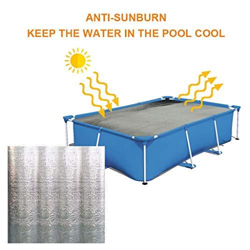 99native Solarplane Pool Rechteckig,Abdeckplane Pool rechteckig für Frame Pool, Pool Cover Solarabdeckplane Pool Rechteckig Staubdichtes Planenverdickungstuch Für Pools (160X160CM)