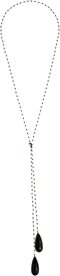 Dee Berkley Black Lariat Necklace