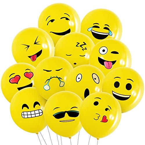 Globos Emoji - 100 Piezas MOOKLIN Globos Emotion diferentes, Globos de helio para el cumpleaños del niño Suministros de fiesta favores, las Fiesta Boda Navidad Reunión Ceremonia (Azar Emoji)