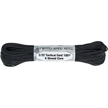 "100 Feet Tactical 275 Paracord 3//32/"" Diameter Assorted Colors PARACORD PLANET 4 Strand Nylon Core 275lb Tensile Strength"