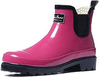 MEIGUIshop Rain Boots - Rubber Short Tube Non-Slip rain Boots rain Boots Overshoes