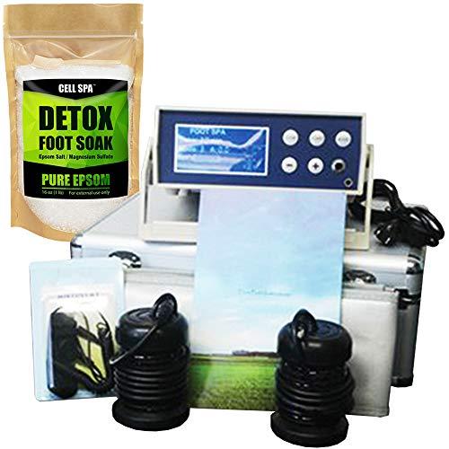 Cell Spa, Digital LCD Display Detox Ion Ionic Aqua Foot Bath Spa Chi Cleanse Fir Belt (UNSCENTED)