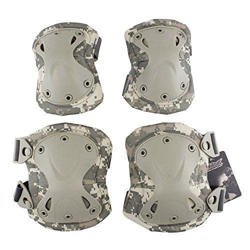 Protections Tactiques de Protection des Genoux et des Coudes pour Le Combat Ensemble de Garde Utilisé pour la Chasse Tir au Paintball et pour Tous Les Autres Sports de Plein Air