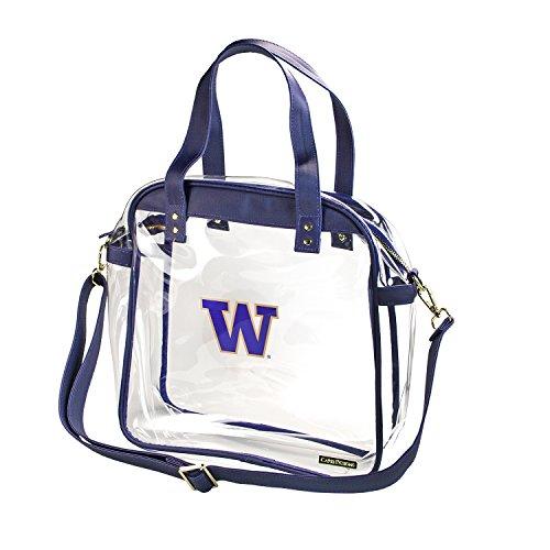 Universidad de Washington Huskies Capri diseños claramente Fashion con Licencia Claro Bolso Tote Cumple con los requisitos de Estadio