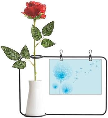 YaoX Blue Flower Plant Dandelion Seed Artificial Rose Flower Hanging Vases Decoration Bottle