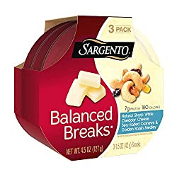 Sargento Balanced Breaks with Natural Sharp White Cheddar Cheese with Cashews and Raisins, 1.5 oz, 3