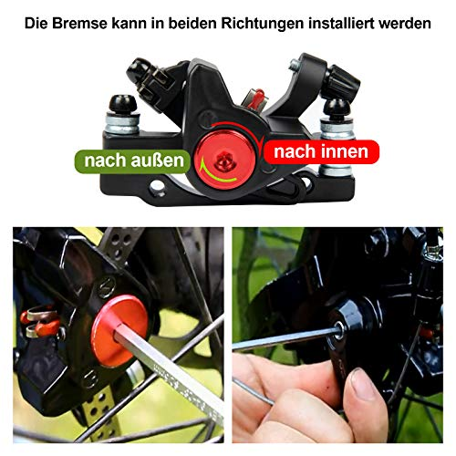 Yorbay Fahrrad Scheibenbremse Set, 160mm Scheiben und vorne hinten Bremse mit BB5 Bremsbeläge und Kabel (Schwarz) - 5