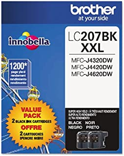 Brother(R) Extra-High-Yield Ink Cartridge, Black, Pack Of 2, LC2072PKS