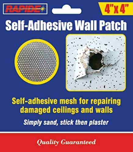 Plasterboard Drywall Hole Cover Repair Patch 4'' Self Adhesive Metal Mesh Plate