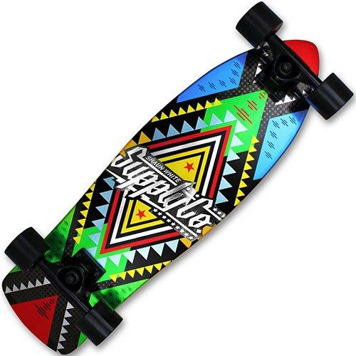 XQmax Skateboard Shaun White Airwalk Cruiser, Blue/Green/Yellow