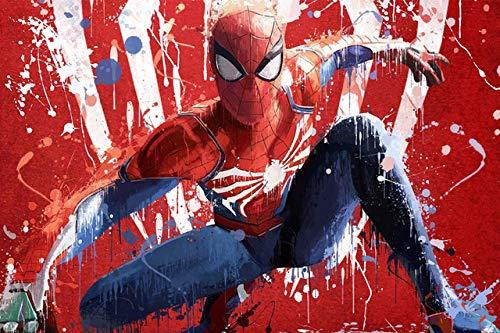 Spetich Spider-Man Puzzle 1000 Piezas Madera Marvel Superhéroes Spiderman Juegos Adultos Adolescentes Niños Niños Juguetes-38 * 52Cm-500 Pieza