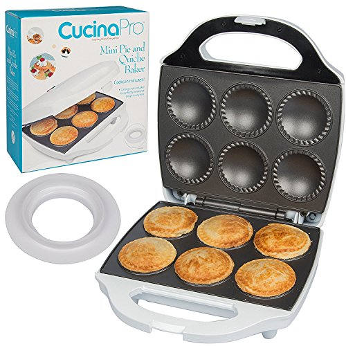 Mini Pie and Quiche Maker- Pie Baker Cooks 6 Small Pies and...