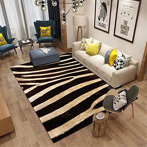 alfombras Salon Modernas,Black Wide Stripe Pattern Alfombra Resistencia al Sonido Antifatiga Simple Carpet ,alfombras Rebajas -Negro_40x60cm