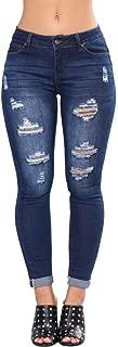 Kardashian Jeans, Womens High Waisted Skinny Denim Stretch Slim Length Jeans