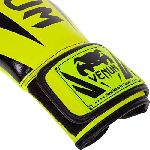 Venum Elite Boxing Gloves, Neo Yellow, 8 oz