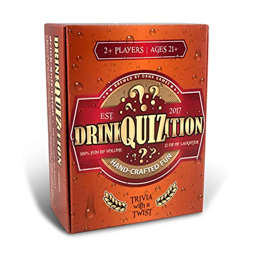 DrinkQuizition Trivia Card Game - Fun & Fresh Games for Adult Parties & Get-Togethers - Answer Common Knowledge & Trivia Questions or Take a Sip - Hilarious Activity for Adults 21 & Up