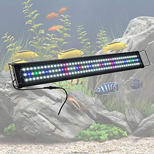 "Yescom 129 Multi-Color LED Aquarium Light Extendable Full Spectrum Lamp for 36""-43inches Fish Tank"
