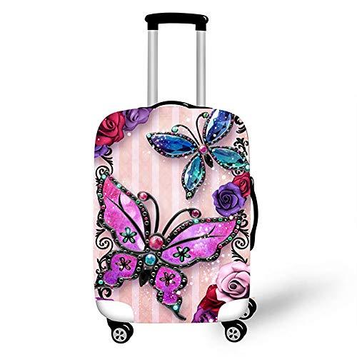 YM& 3D Viaggio Moda Elastico Bagagli Copertura Farfalla Bambino Protezione Antipolvere Caso 3 Misure, 1, 34.12/36.74in