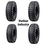 Bundle - Four Tusk TERRABITE Heavy Duty 8-Ply Radial DOT UTV/ATV Tires - TWO 27x9-14 & TWO 27x11-14