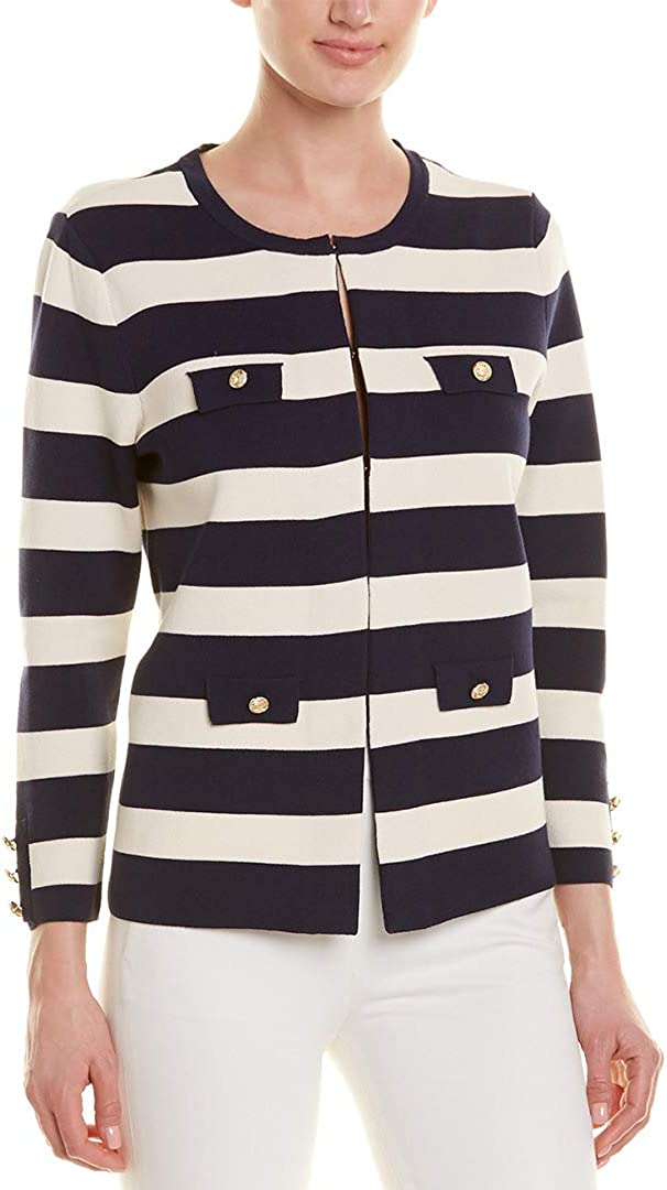 Anne Klein Women's Four Pocket Cardigan Sweater