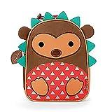 Skip Hop Zoo Kids Insulated Lunch Box, Hudson Hedgehog, Brown