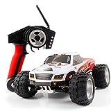DBXMFZW 1/18 Scale 4WD Off-Road Control Remoto Control Car, Vehículo RC de Alta Velocidad RC, Bigfoot Monster RC Truck, Todo Terreno 45 ° Escalada RC Coche con batería Recargable, Regalos para niños