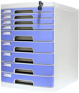 KANJJ-YU Bureau de stockage Expander, Unité de stockage Organisateur tiroir verrouillable Sorter A4 Boîte de bureau (Taill...