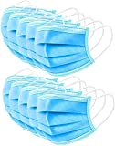 Disposable Filter Face Masks 3 Ply Used in Offices, Households Sensitive to Pets Thin Fabric Pads for Dust Protection (50pcs)