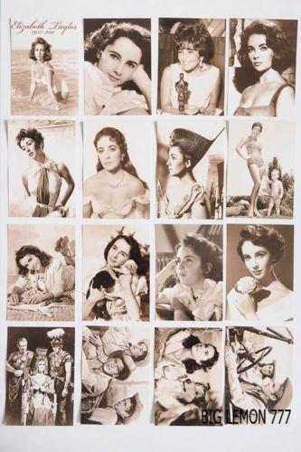 エリザベス テイラー セピア ポストカード 16枚セット