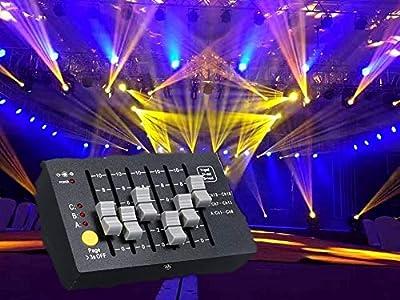 Lixada Mini DMX-18 Stage Controller AC100-240V 0.5W DMX 512 Console DJ Equipment Lighting Fixture Built-in 2000mAh High Capacity Rechargeable Batterys Portable