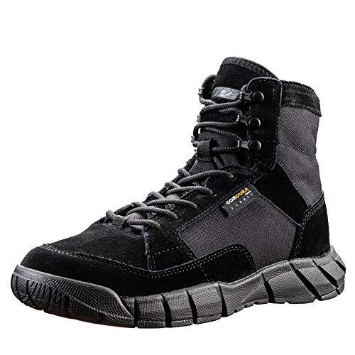 YEVHEV Laarsschoenen voor heren, lichte militaire wandelschoenen, antislip, ultralight werk, slijtvast, vechtlaarzen voor kamperen, wandelen, sporten, outdoor